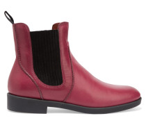 Leather Ankle Boots Plaume