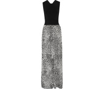 Hurley Cutout Jacquard-knit Gown Schwarz