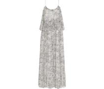 Wind Mael printed crinkled silk-georgette maxi dress