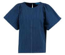 Mina Striped Cotton Top Navy
