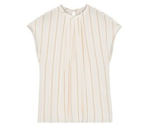 Tyanna Gathered Striped Voile Top