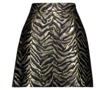 Metallic Brocade Mini Skirt Gold