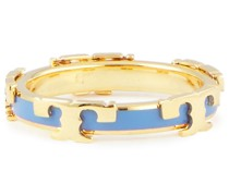Gold-tone Enamel Ring