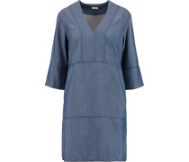 Chambray Mini Dress Blau