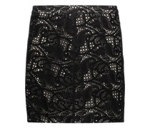 Paisley laser-cut suede mini skirt