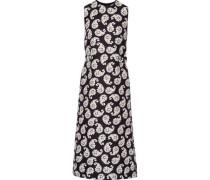 Simmons printed cotton and silk-blend midi dress