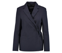 Indigo Cotton-canvas Blazer Rauchblau
