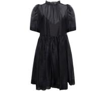 Nuria Kleid aus Seidenorganza mit Rüschenbesatz