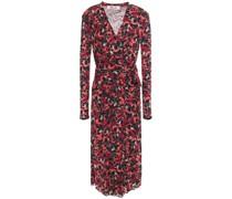 Brenda Gathe Floral-print Stretch-mesh Midi Dress