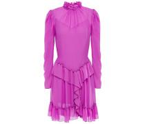 Ruffled Georgette Mini Dress