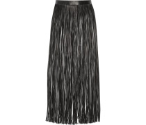 Fringed Leather Belt Schwarz