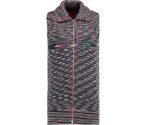 Ribbed-knit wool vest