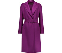 Belted Wool-blend Coat	 Plaume