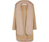 Hooded Wool-blend Coat Sand
