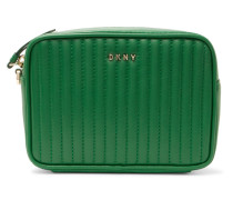 Gansevoort Quilted Leather Clutch Grün