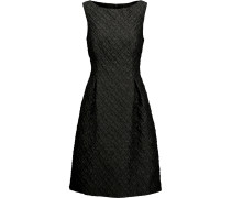 Betsy Pleated Wool-blend Cloqué Dress Schiefer