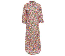 Floral-print Cotton-poplin Midi Shirt Dress