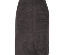 Faux Suede Skirt Schiefer