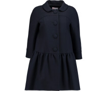 Fluted Cotton-blend Twill Coat Mitternachtsblau