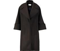 Oversized Wool-blend Coat Schokoladenbraun