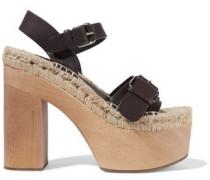 Lucia leather platform espadrille sandals