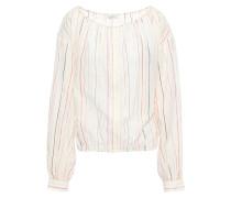 Striped Cotton-blend Gauze Blouse