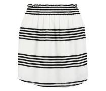 Striped crepe skirt
