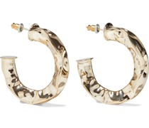 Hammered -plated Hoop Earrings