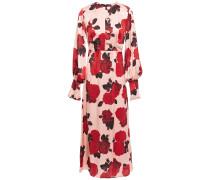 Jenna Floral-print Satin Midi Dress