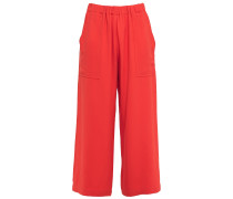 Cropped Crepe Culottes