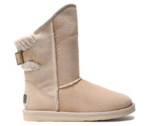 Spartan ribbed-trimmed shearling boots