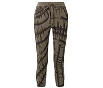 Hyper Reality Cropped Track Pants aus Jacquard aus Einer Baumwollmischung mit Batikmuster