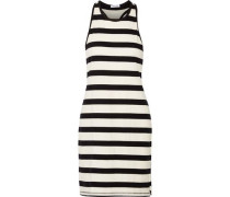 Striped cotton-jersey mini dress
