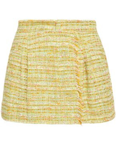 Tweed Shorts Light Green