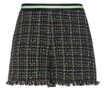 Shorts aus Bouclé-tweed aus Einer Baumwollmischung mit Fransen