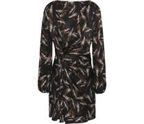 Woman Twisted Silk-jacquard Mini Dress Black