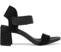 Willa textured-leather and suede sandals