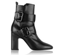 Tom Leather Ankle Boots Schwarz
