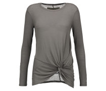 Knotted Jersey Top Grau