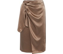 Mya Silk-satin Wrap Skirt