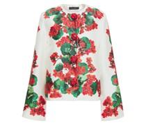 Floral-print Silk-twill Jacket
