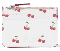Lina Printed Textured-leather Pouch Weiß