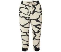 Hyper Reality Cropped Cotton-blend Jacquard-knit Track Pants