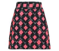 Cotton-blend Jacquard Mini Skirt Mehrfarbig
