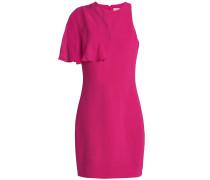 Cutout Chiffon-paneled Stretch-crepe Mini Dress