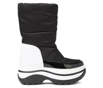 Faux Fur-lined Quilted Shell Platform Snow Boots