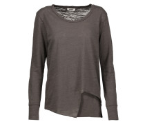 Asymmetric Stretch-jersey Top Anthrazit