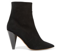 Naelle Suede Ankle Boots Schwarz