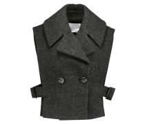 Wool-blend Felt Vest Schiefer