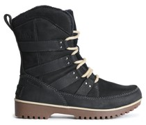 Woman Meadow Leather-trimmed Suede Snow Boots Black